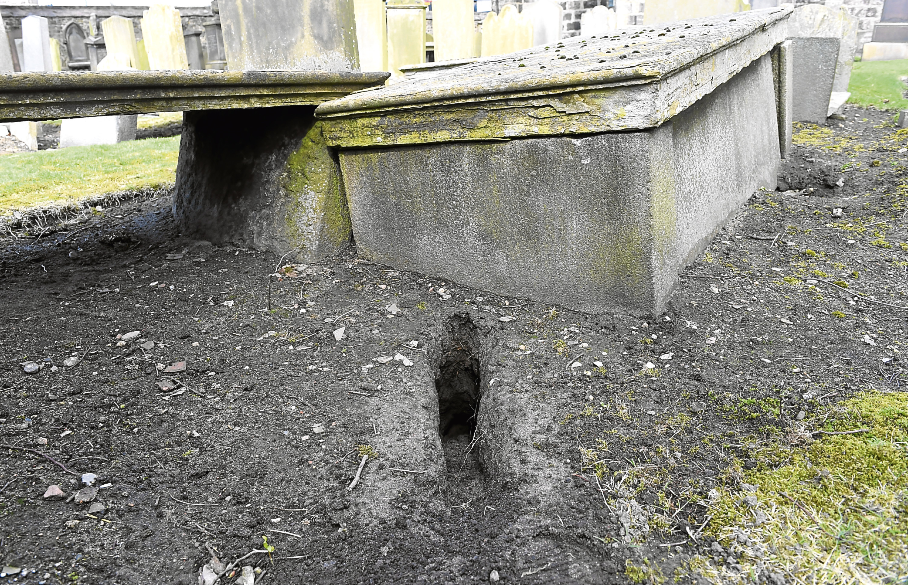 Rabbits are thought to have dug up remains at East St Clements Church