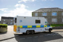 The police investigation at Fernie Place, Fraserburgh.