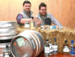 Brothers Guy, left, and Mungo Finlayson are behind Beer at the Barn Lochter.