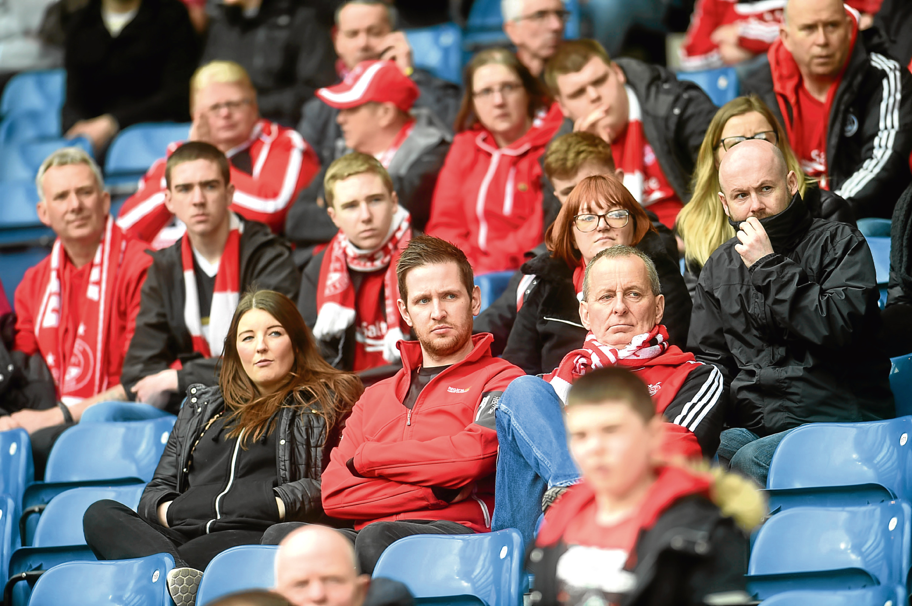 Dejected Dons fans at Hampden.