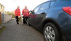 Mary Rasmussen, left, and Amanda Burt, who are both blind, have hit out at drivers parking on pavements.