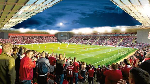 An artist's impression of the new stadium