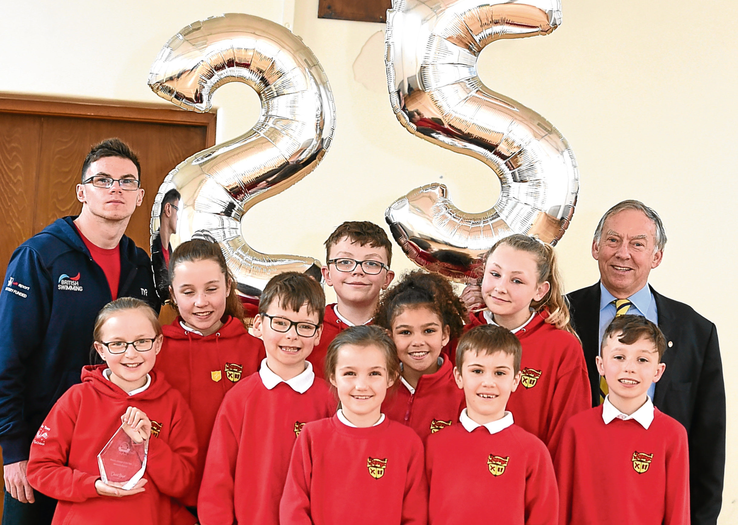 Thye youngsters of Westpark School celebrate 25 years of the Aberdeen sports awards