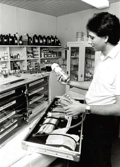 1983: Eddie Dodds from Cheshire had 10 years offshore experience, including North West Hutton.