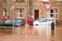 Flooding in Stonehaven.