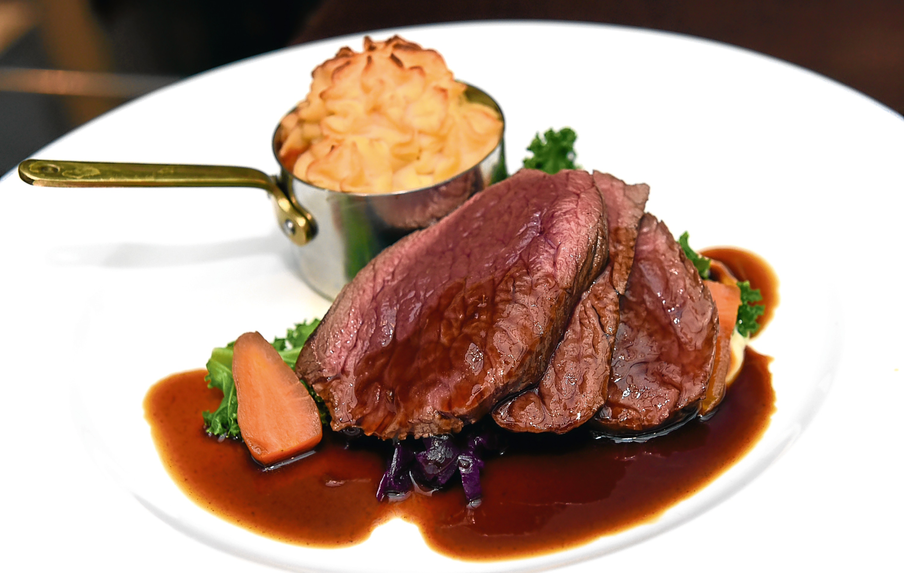 The duo of venison dish