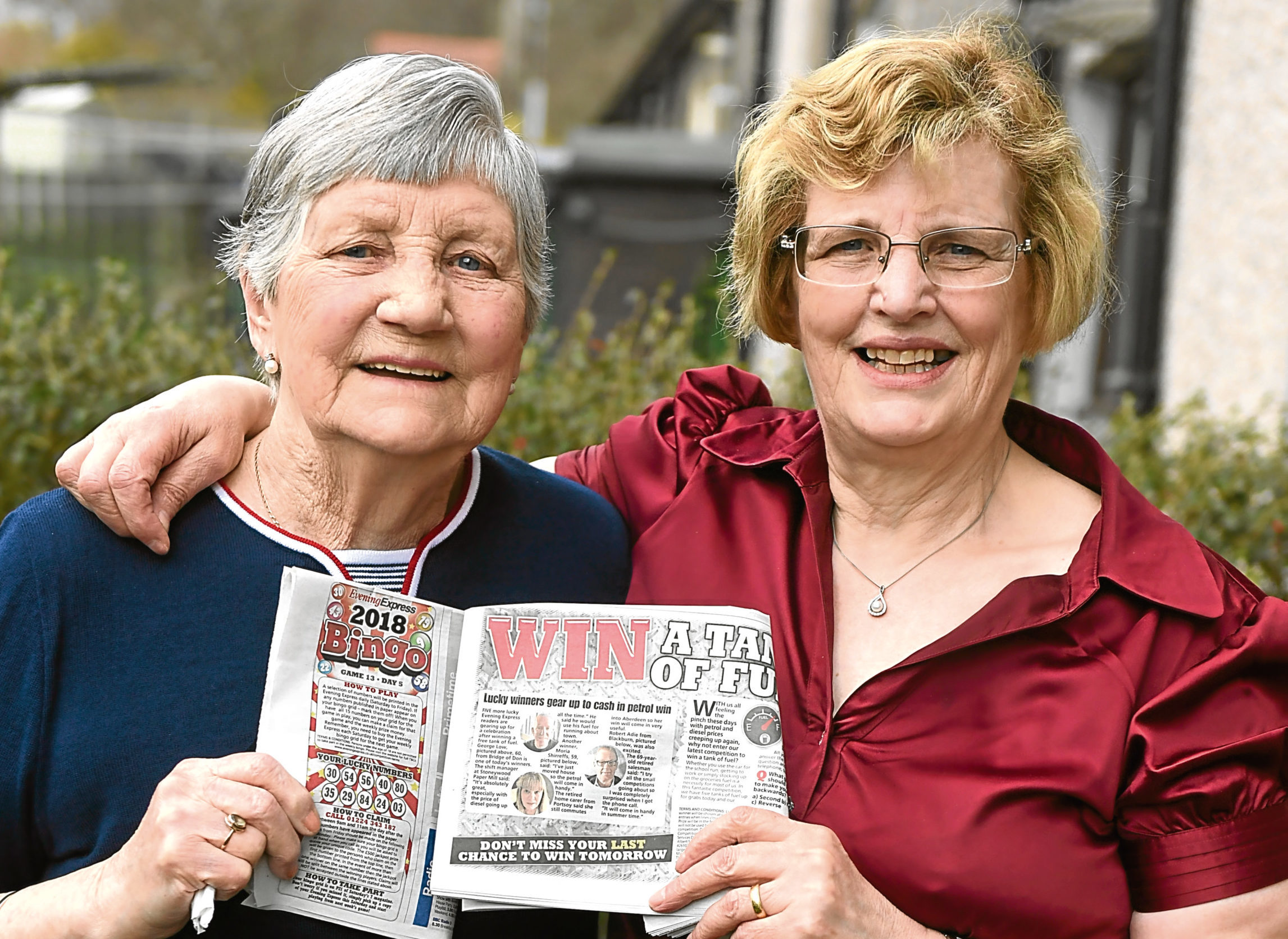 Annie Ewen, left, and her daughter Maureen Singer, who have both won Evening Express competitions in the same week.