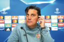 SEVILLE, SPAIN - APRIL 02:  Head Coach of Sevilla FC Vincenzo Montella attends to the press during the Press Conference prior to their UEFA Champions League match against Bayern Munich at t Estadio Ramon Sanchez Pizjuan on April 2, 2018 in Seville, Spain.  (Photo by Aitor Alcalde/Getty Images)