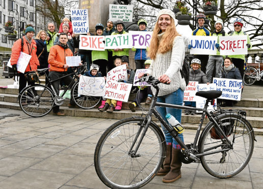 Rachel Martin is campaigning for a cycle lane on Union Street.