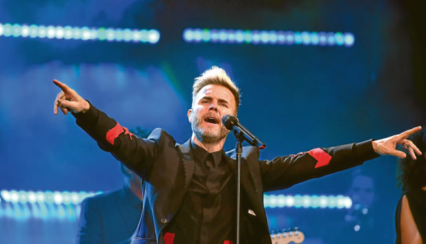 Gary Barlow live at the AECC. Pic by Chris Sumner Taken 21/4/18