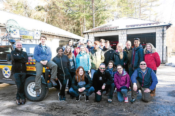 The group of students who took part in the expedition.