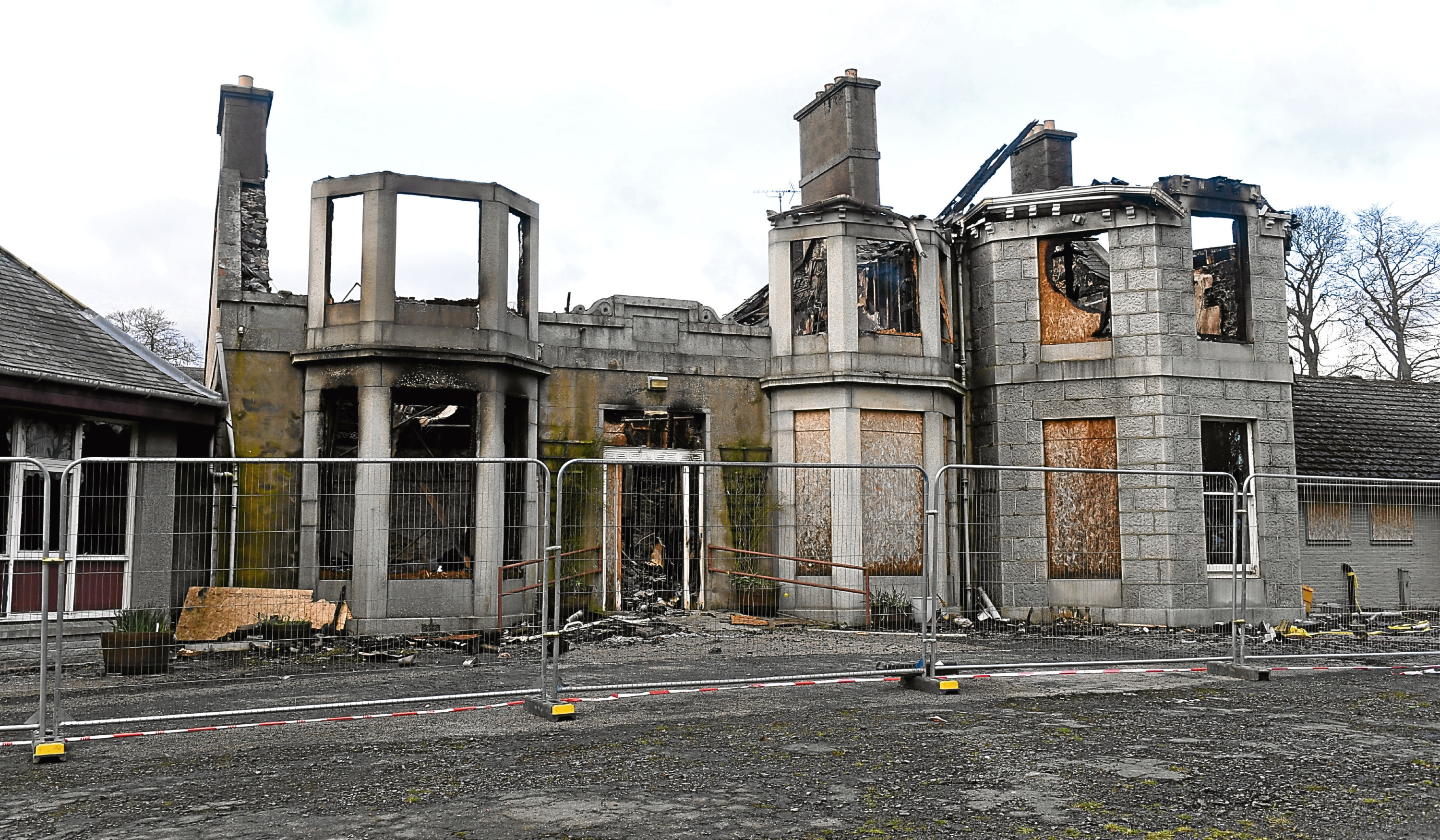 Aftermath of the fire at Blythewood House, Port Elphinstone.
