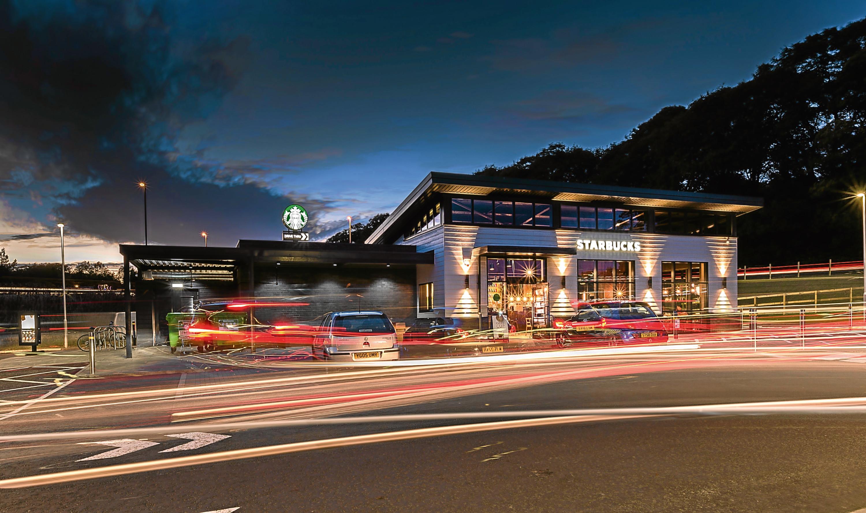 Starbucks drive-thru at Blackburn