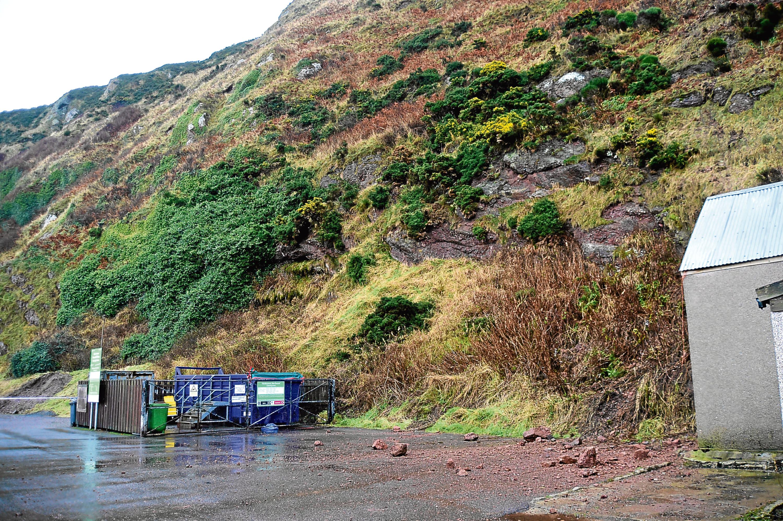 Gardenstown suffered a landslide in March