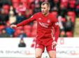 Niall McGinn in action for Aberdeen.