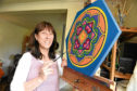 Lynne Digby says her painting has helped give her 'closure'
