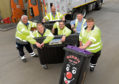 The Aberdeenshire Waste team in Inverurie are the first team from Scotland to take part in the National Refuse Championships. Picture by Kath Flannery