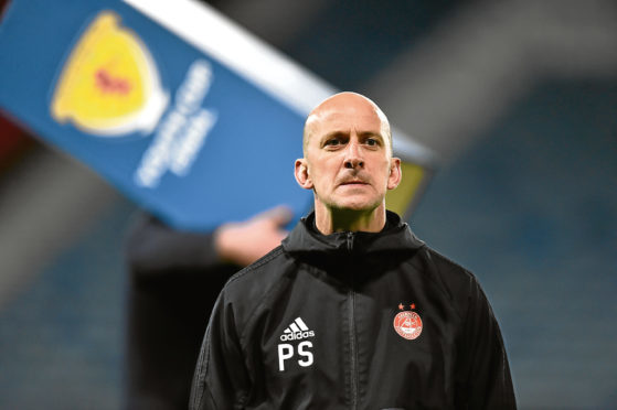 Aberdeen Manager Paul Sheerin at full-time after the Scottish Youth Cup final.