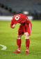 Aberdeen's Bruce Anderson is dejected at full time