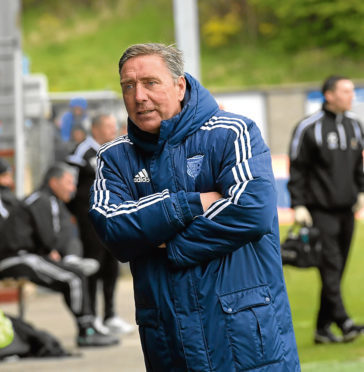 Peterhead's manager Jim McInally. Picture by KATH FLANNERY