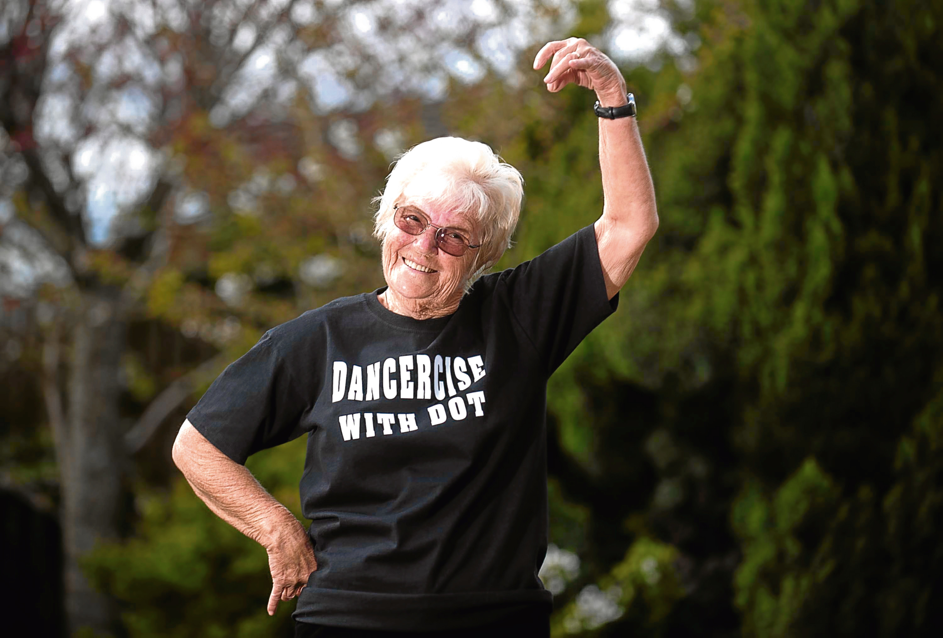 79-year-old Dorothy Bremner has raised £1685 by holding dance and exercise classes