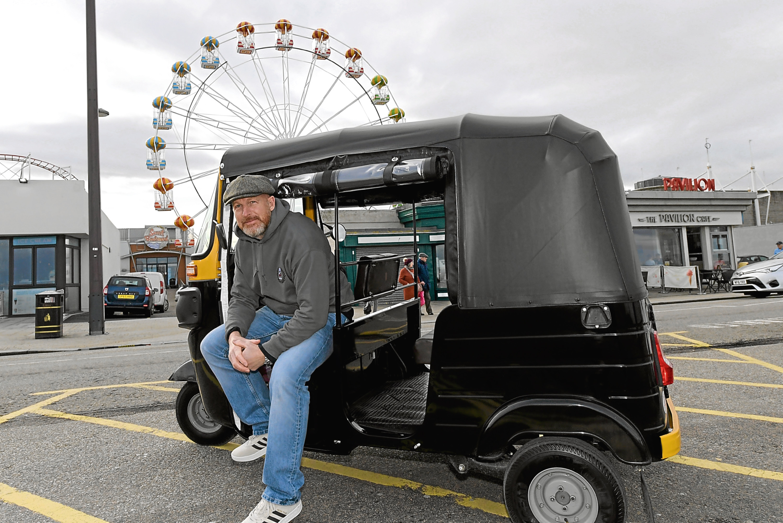 Robert Carmichael is opening a tuk tuk taxi company in Aberdeen.