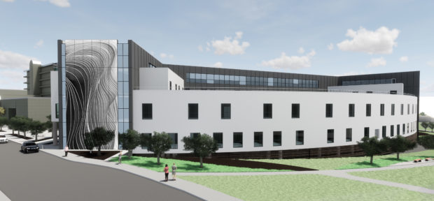 An artist's impression of the Baird Family Hospital at Foresterhill.