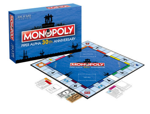 The Piper Alpha 30th Anniversary Monopoly game.