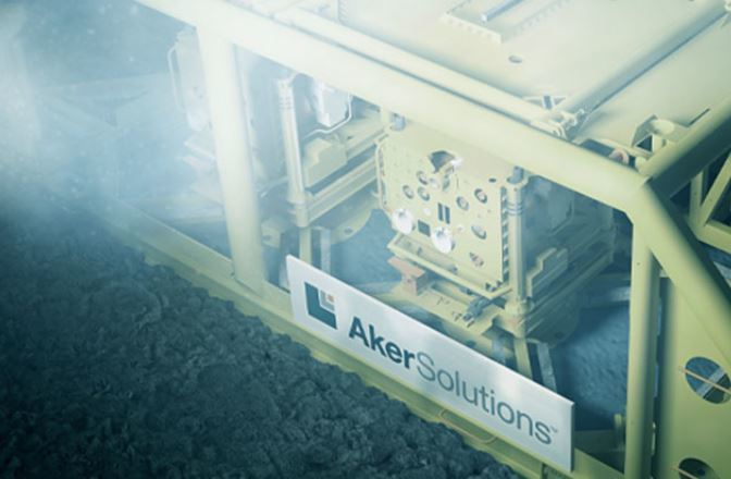 Aker subsea manifold. Photo by Aker Solutions.