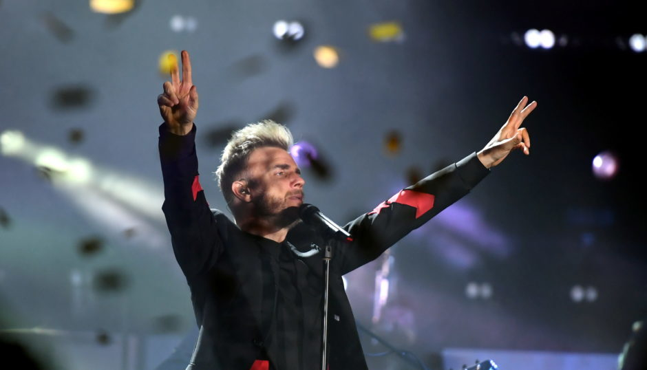 Gary Barlow performs in Aberdeen.