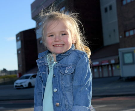 Seven-year-old Layla Sangster has had a life-changing operation to repair a hole in her heart.
