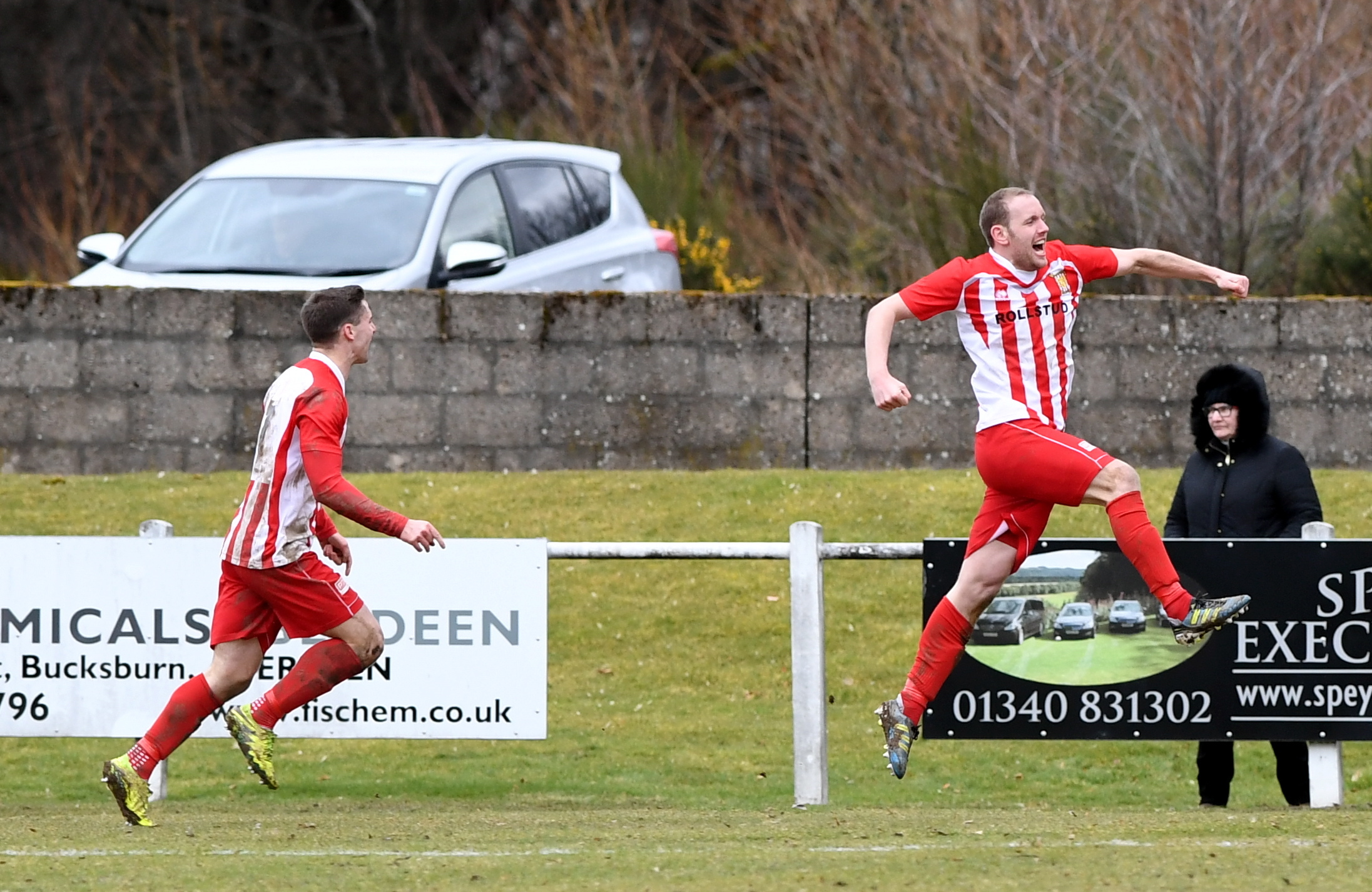 Formartine's Garry Wood, right.