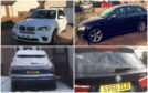 The four vehicles stolen in the north-east - two have since been recovered.