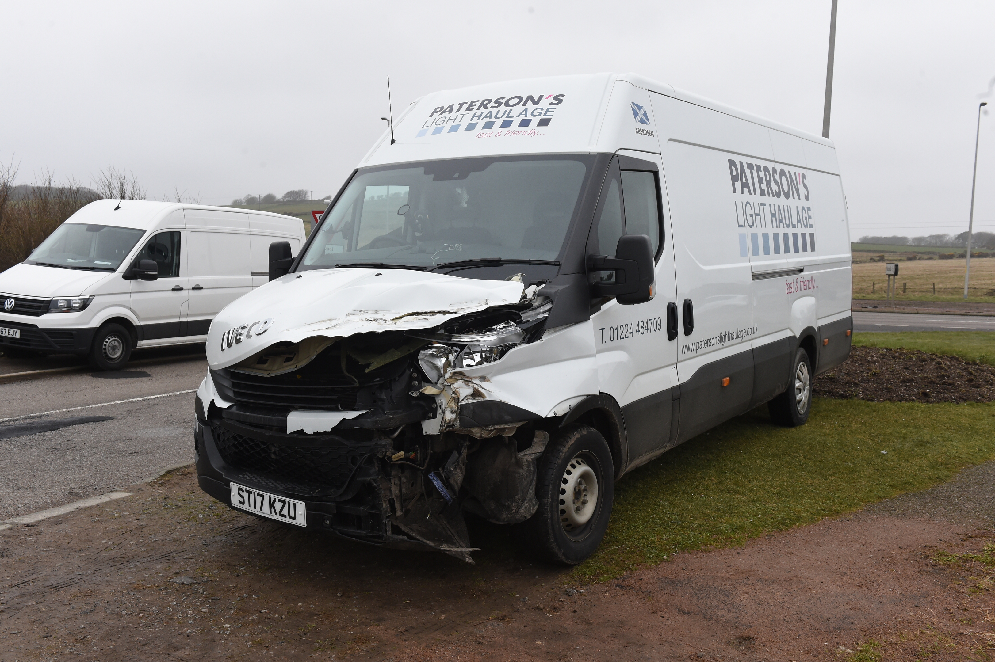 A van was involved in the crash
