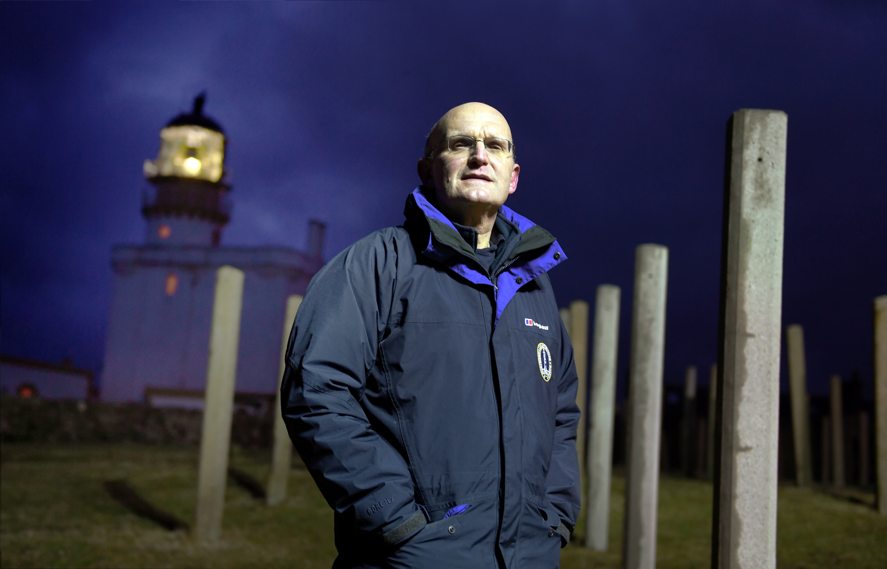 CEO of the Northern Lighthouse Board Mike Bullock who switched the light off after 24 hours.