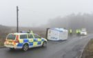 The incident, involving a white transit van, happened at 8.15am.