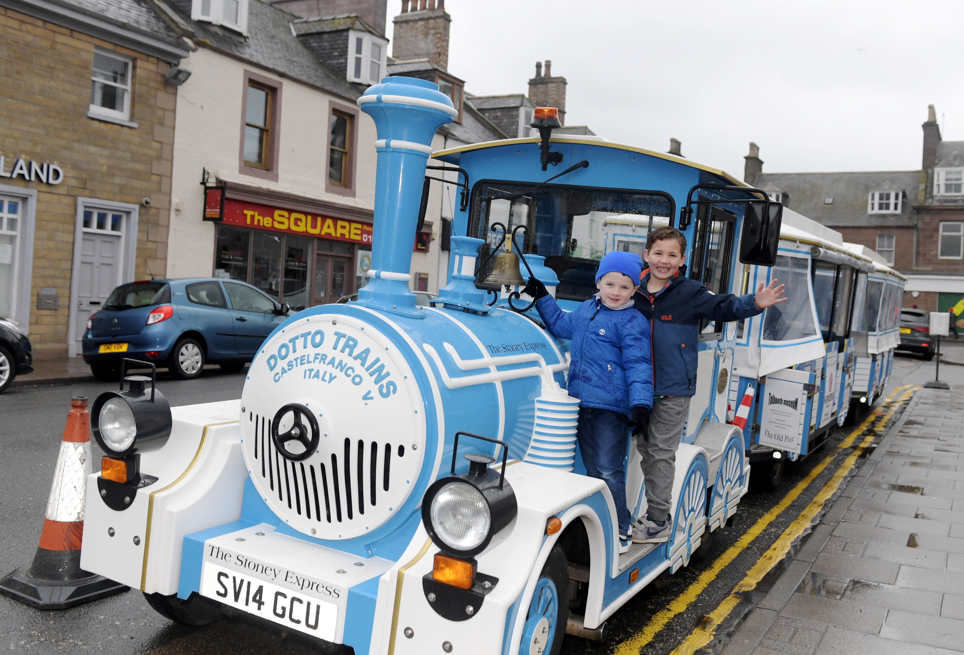 Harry Wilson and Ellis Crawford on the Land Train.