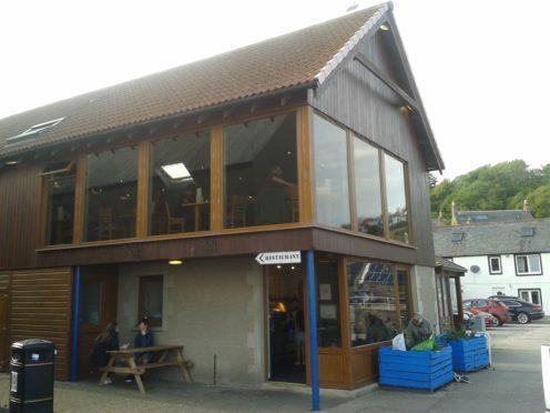 The Quayside restaurant in Gourdon.