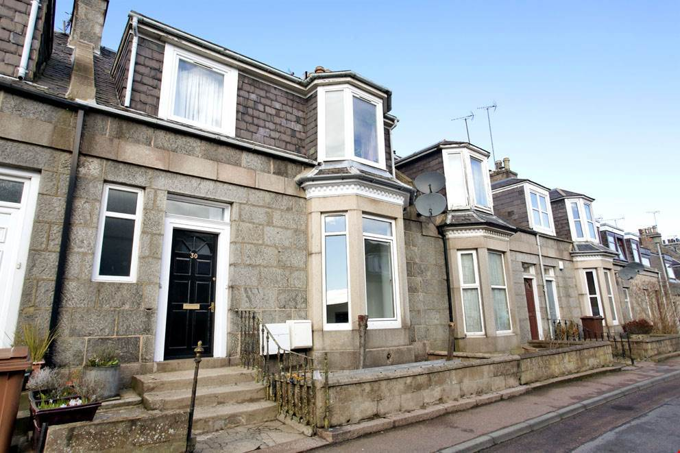 The exterior of the property on Prospect Terrace, Aberdeen