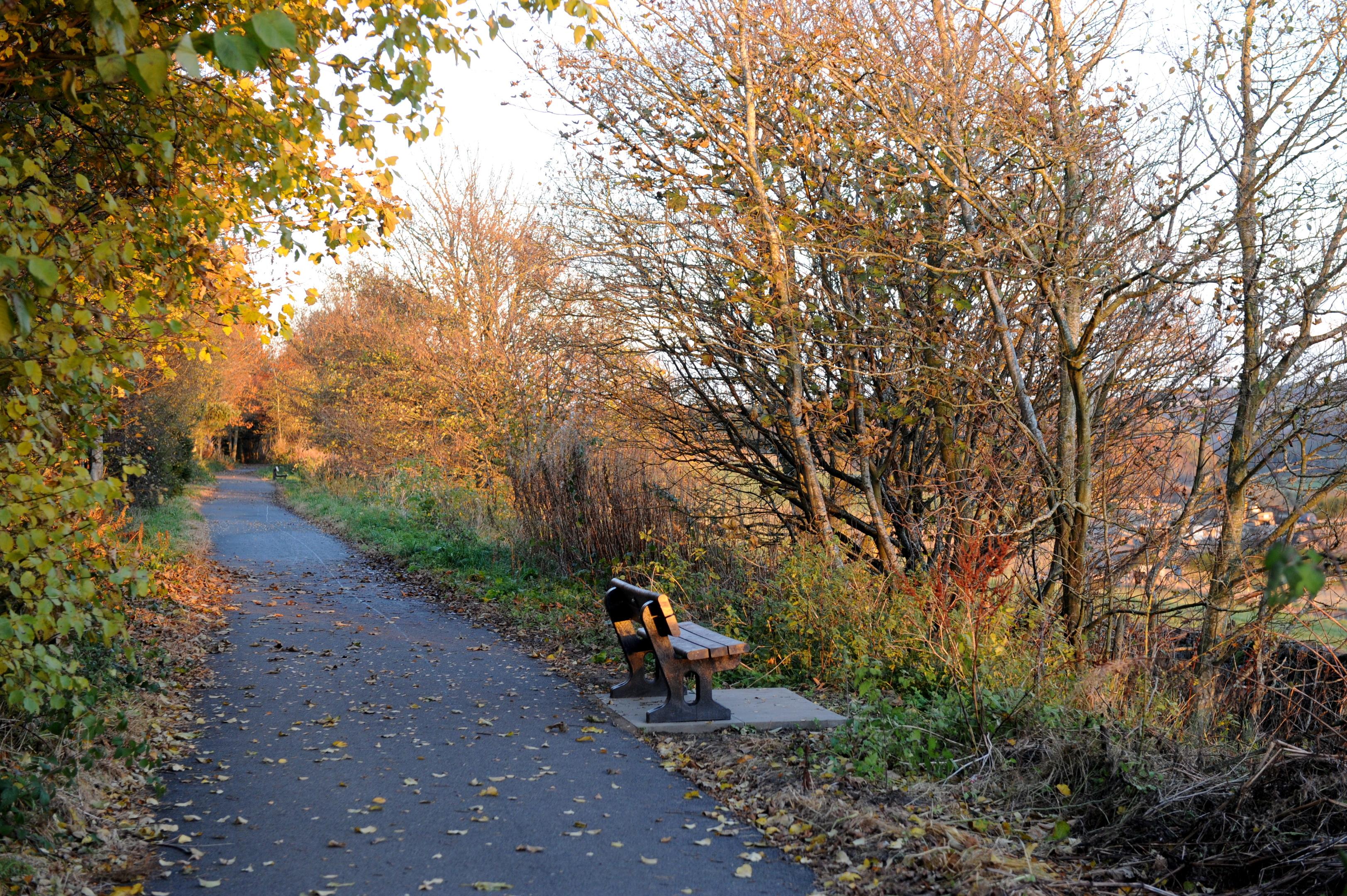 The former Deeside Line is a popular walking route