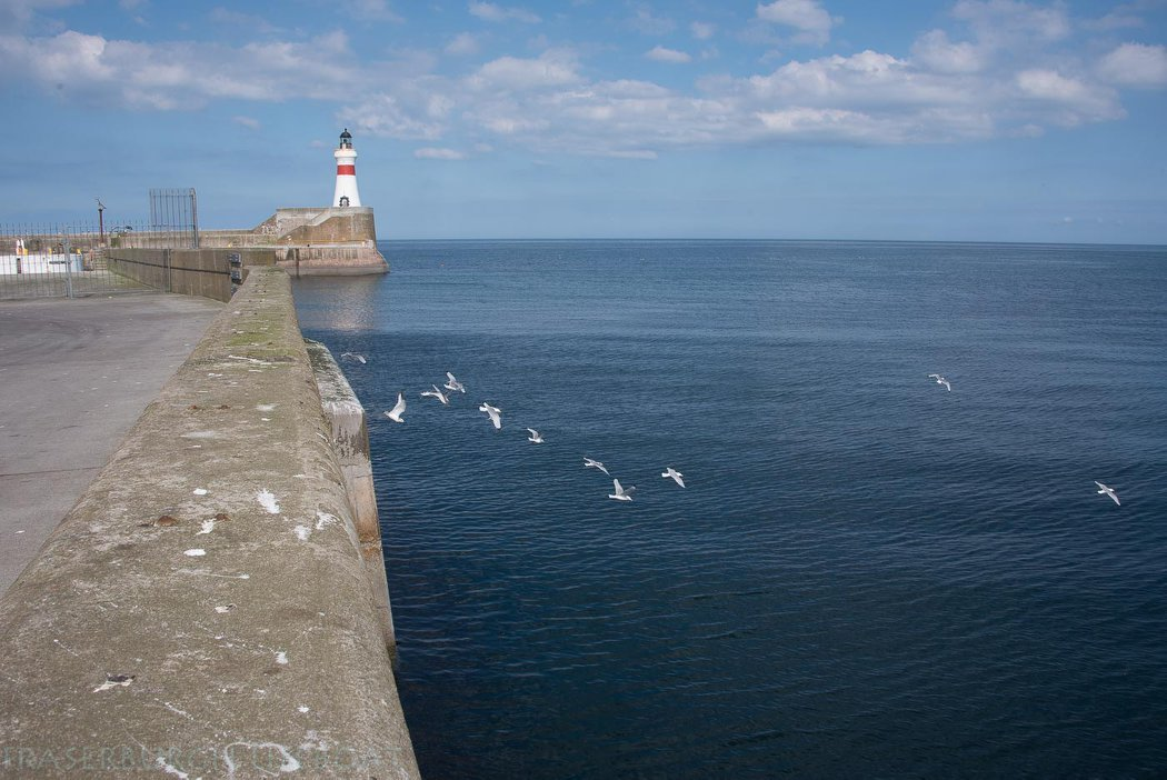 The south breakwater at Fraserburgh harbour where the man fell in.