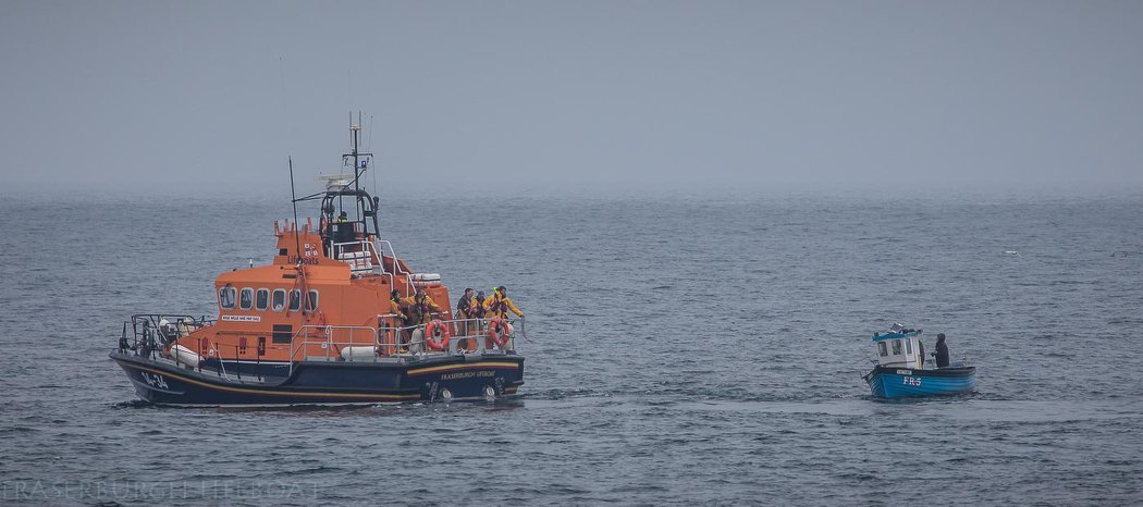 The men were rescued by the Fraserburgh Lifeboat.