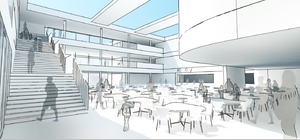 An artist's impression of how the new academy could look.