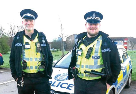 Special constables Stuart Spreadborough and Sean Press