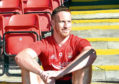 Adam Rooney at Pittodrie Stadium. Picture by Darrell Benns