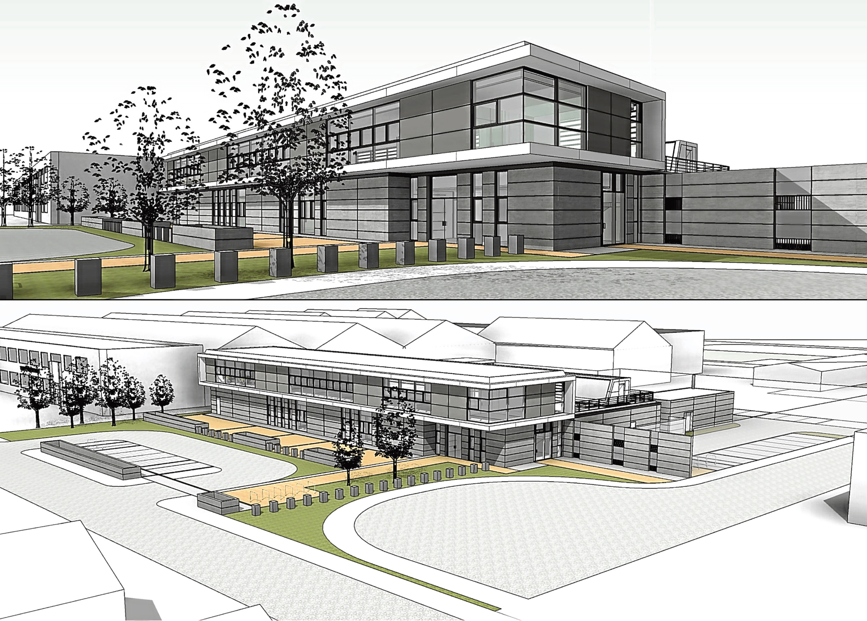 An artist's impression of the new police station planned for Peterhead