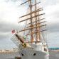 The Sea Cloud II docked at Peterhead last year