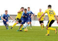 Peterhead's Jack Leitch in action. Picture by Kath Flannery