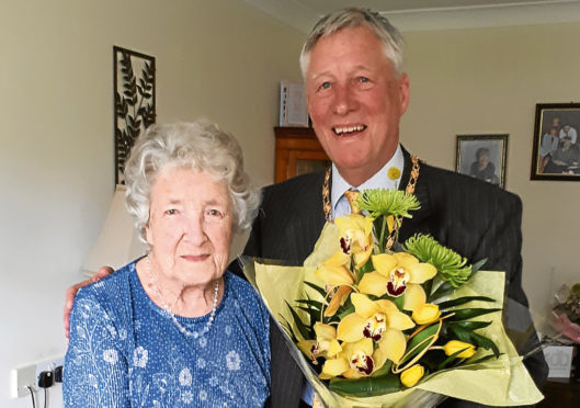 Nellie Gillespie who celebrated her 100th Birthday.