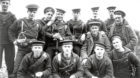 A group of sailors from the Royal Naval Division posing for a photo